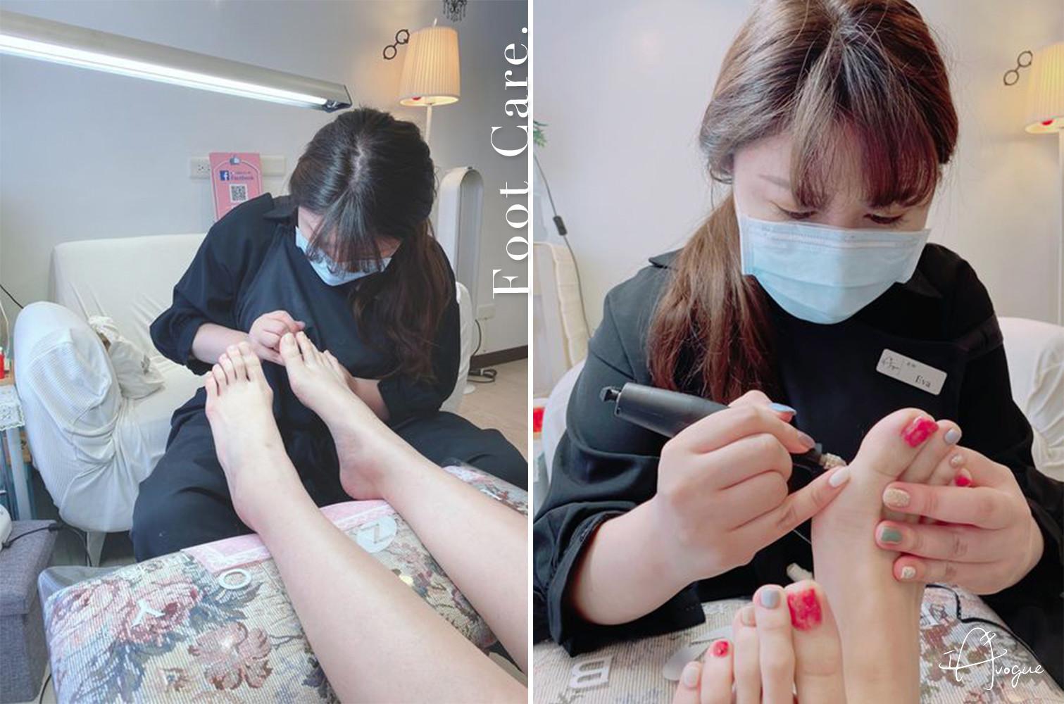 腳底去角質及指甲修整-足部凝膠腳趾光療推薦-IA專業美睫設計