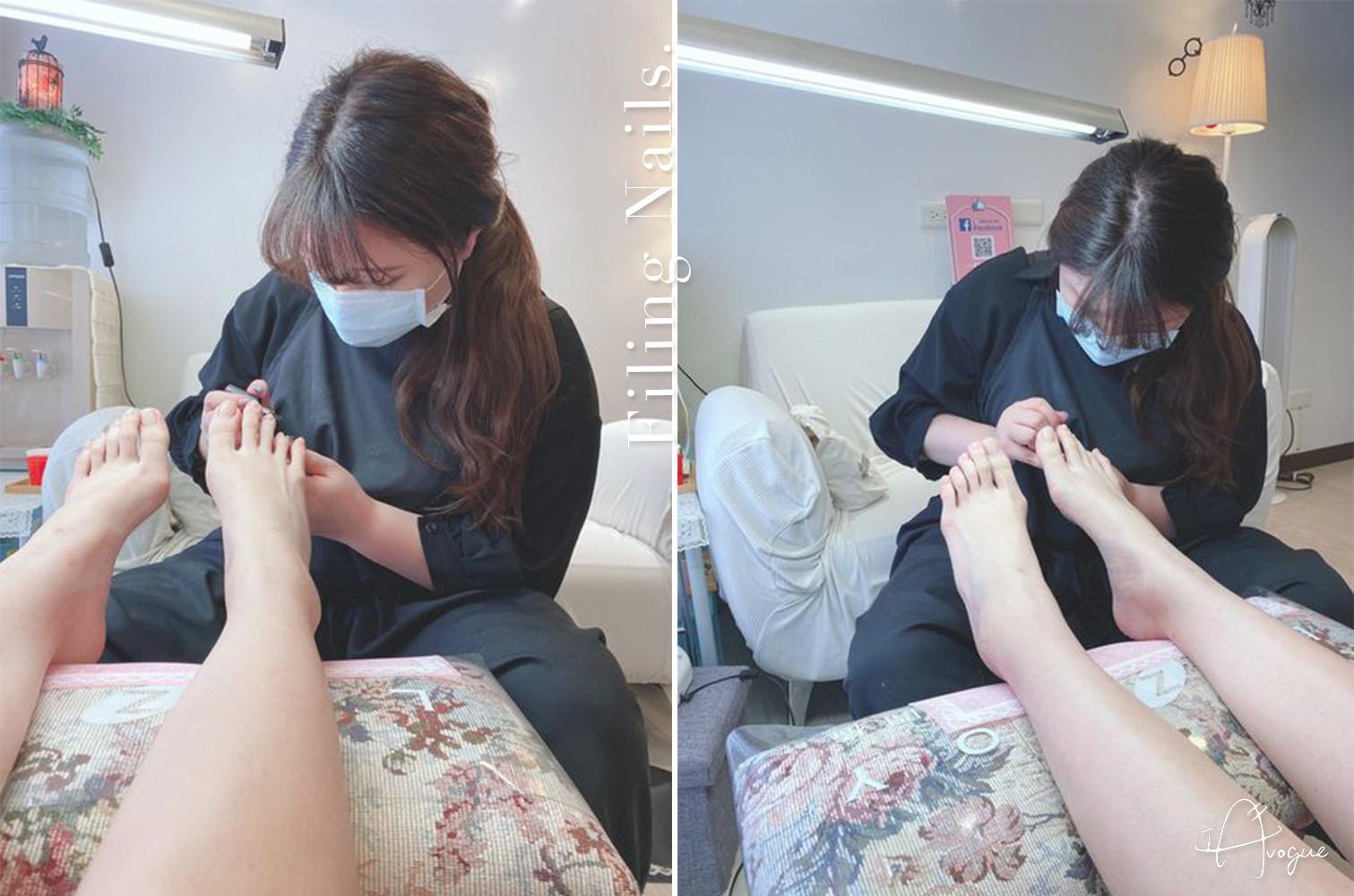 足部凝膠腳趾光療推薦-IA專業美睫設計-修整指甲形狀