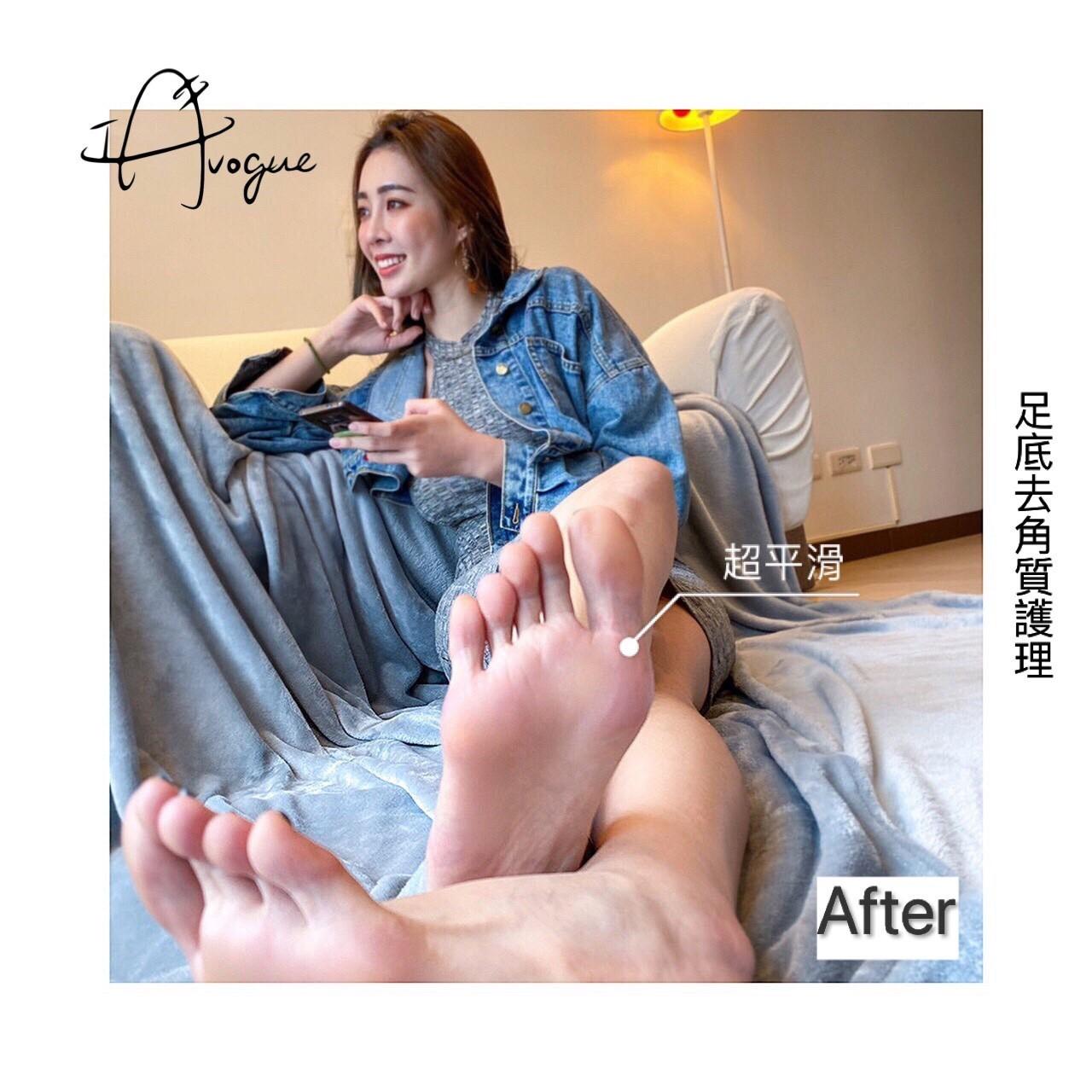 足底去角質護理後,腳底光滑如同嬰兒肌嫩白透亮-台北IA專業美睫設計